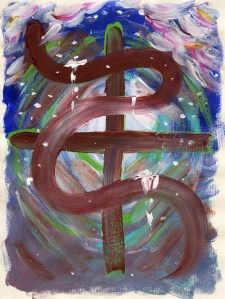 """Artificial Tears #5,"" Acrylic on Paper, 12 x 9 in, June 2013"