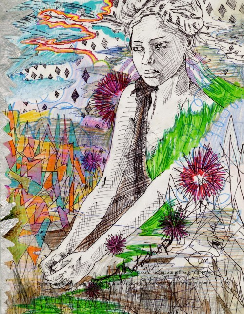 Mixed Media on Paper, 11 x 8.5 in., 2006