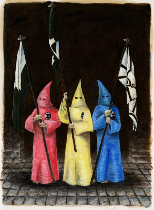 """""""The Primary Guard,"""" Oil on Paper, 20 x 15 in, August 2015"""
