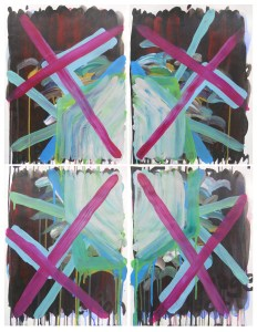 """Fascist Kaleidoscope #1,"" Acrylic on Paper, 36 x 27 in. Approx, Sept. 2009"