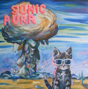 """Sonic Purr,"" Oil on Canvas Over Panel, 24 x 24 in."