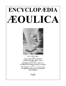 Encyclopaedia Aeoulica Cover