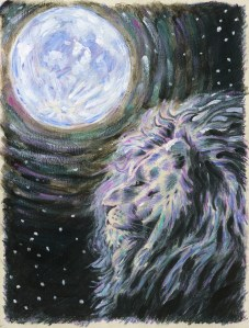 """The Black Lion,"" Colored Pencil and Acrylic on Paper, 12 x 9 in, January 2013"