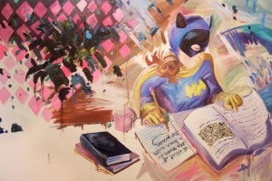 """""""Homework: Ab Ex,"""" Oil on Canvas over Panel, 50 x 72 in, Summer 2008"""