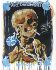 """Bing Bang!,"" Acrylic on Paper, 29 x 24 in, Feb. 2010"