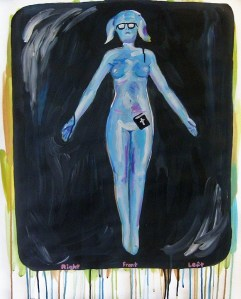 """""""Body Scanner Painting,"""" Acrylic on Paper, 29 x 24 in, Feb. 2010"""