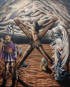 """""""The Crucifixion of Yeshua,"""" Oil on Canvas, 30 x 24 in, April 2018"""