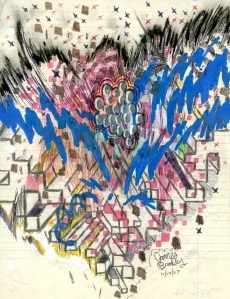 Mixed Media on Paper, 11 x 8.5 in., 20007