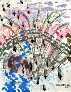 Mixed Media and Collage on Paper, 11 x 8.5 in, Nov. 2007