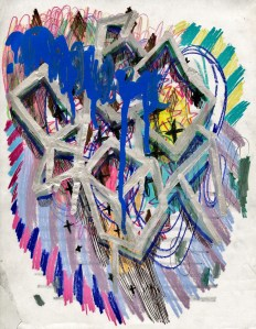 Mixed Media on Paper, 11 x 8.5 in, 2007