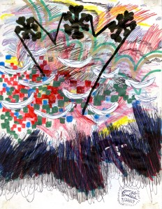 Mixed Media on Paper, 7.5 x 5.75 in., 2007