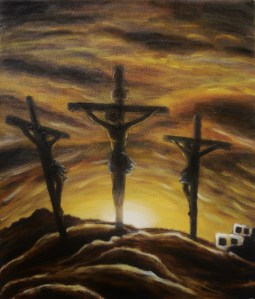 """Golgotha,"" Oil on Canvas, 12 x 10 in, 2014"