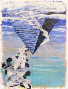 """Stalactite,"" Acrylic on Paper, 24 x 18 in, November 2012"
