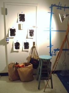 """Redactions"" (Studio Installation View), November 27, 2012"