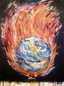 """""""The Diamond Abstraction,"""" Oil on Canvas, 48 x 36 in, March 2009"""